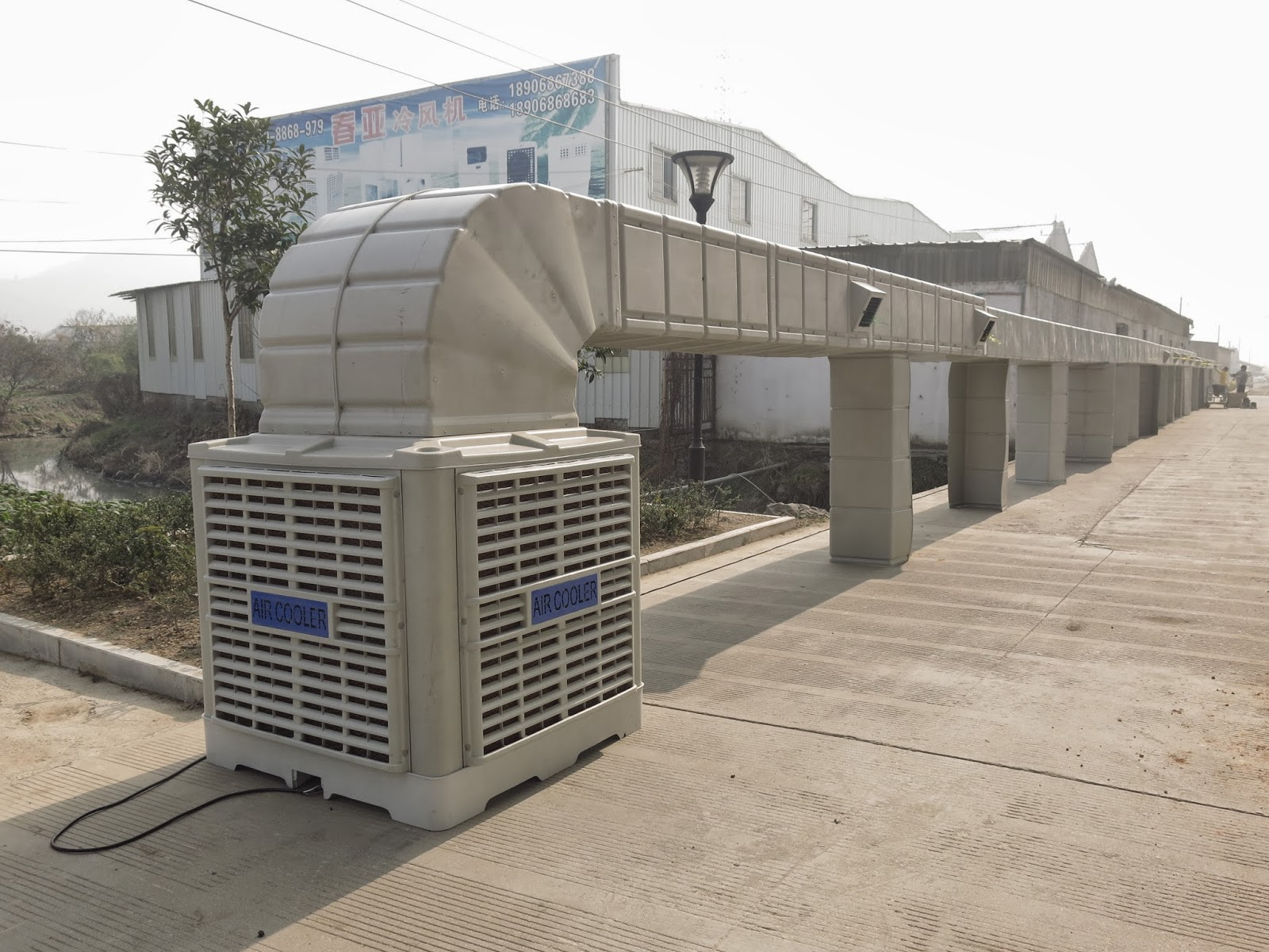 Industrial Cooling Duct : Kw m h industrial evaporative air cooler with