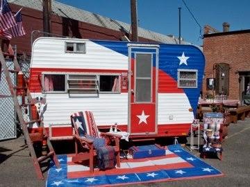 patriotic red white blue camper