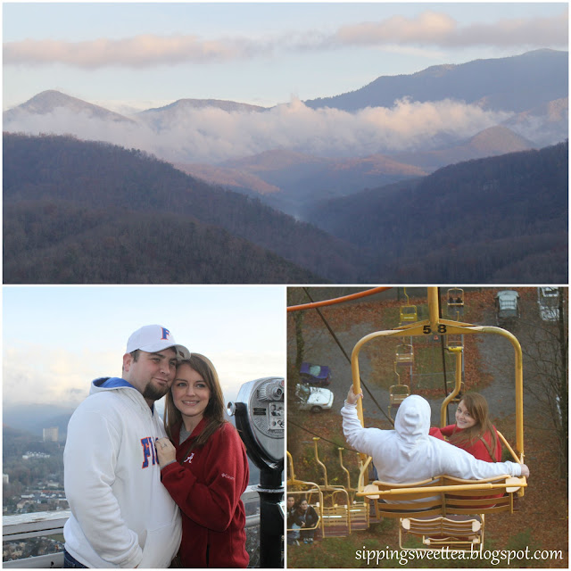 Gatlinburg, chair lift, smoky mountains