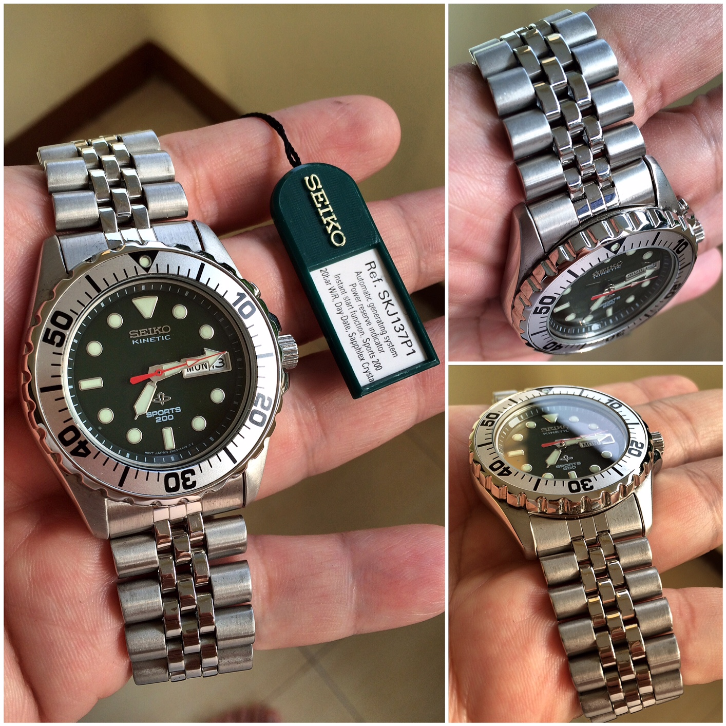 [For Sale] Seiko Deep Green Kinetic, SKJ137, Jubilee Bracelet, NOS, Fullset, Rare...
