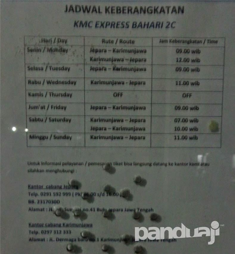 Jadwal Express Bahari 2C