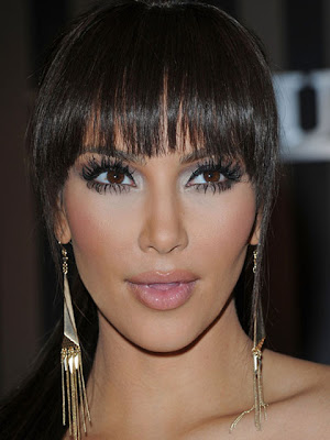 Kim Kardashian Gold Dangle Earrings