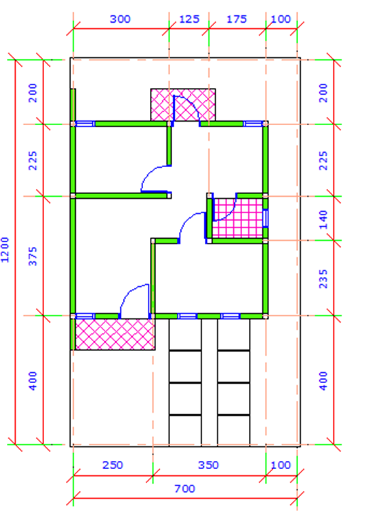 desain rumah cad simpel