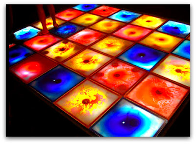 Жидкая плитка различных цветов и оттенков