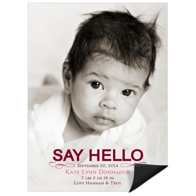 say hello announcement
