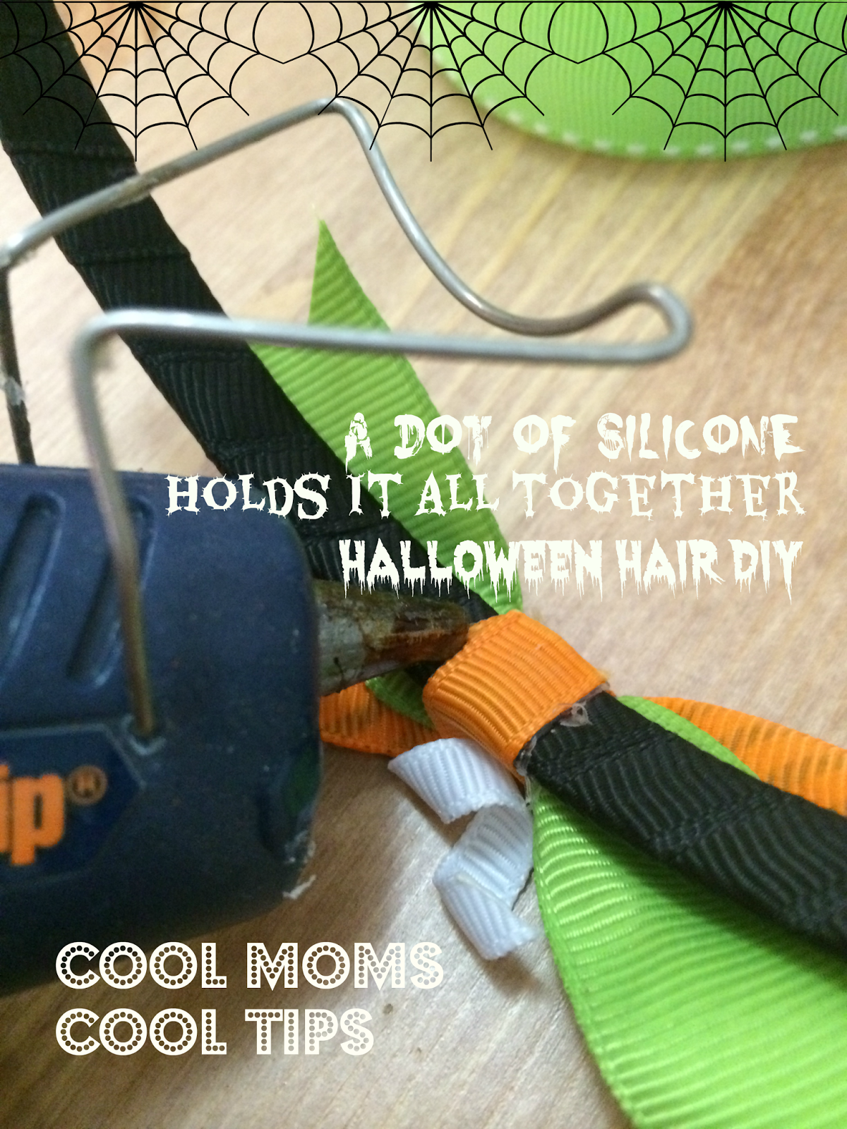 cool moms cool tips DIY Halloween Headband proces
