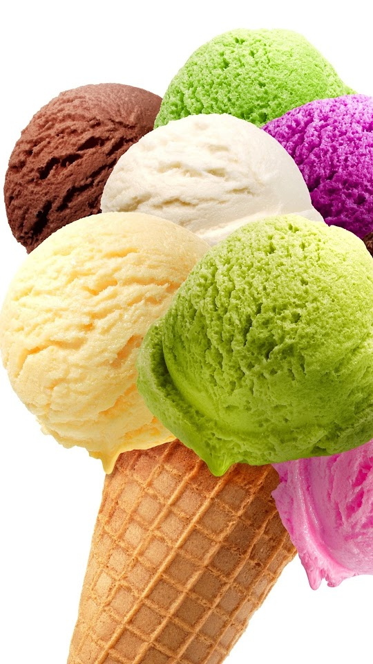Colorful Ice Cream Cone Dessert Galaxy Note HD Wallpaper