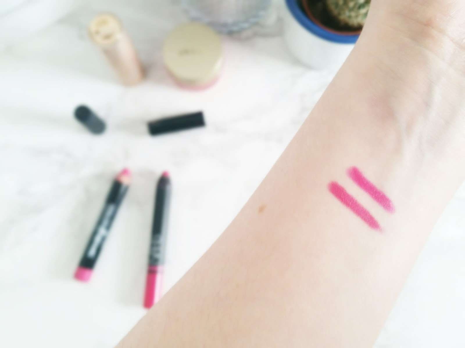 nars satin lip pencil yu maybelline fuschia desire