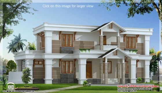modern mix sloping roof house - Home Design Game