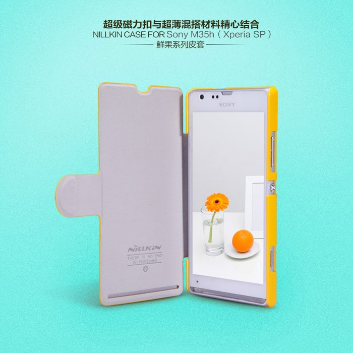 Sony xperia SP Nillkin fresh color flip cover, Malaysia