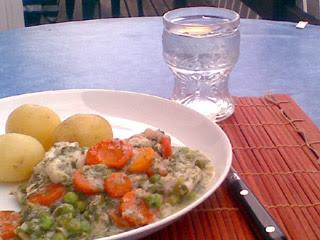 Enkel fiskgryta med grönsaker