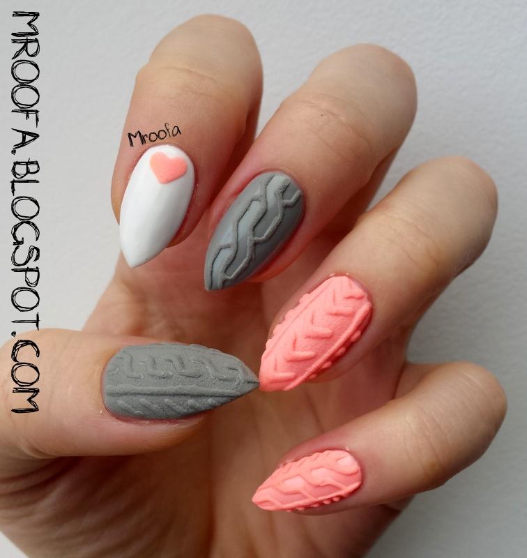 Knitted Nails Sweterkowe Paznokcie Proszek Akrylowy Mroofa