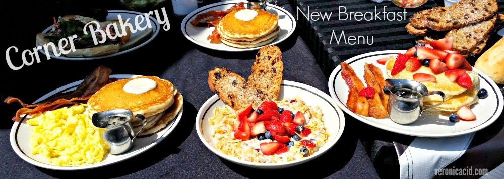 pancakes, buttermilk pancakes, bacon, breakfast, chilled berry almond swiss oatmeal, corner bakery, menu tasting,