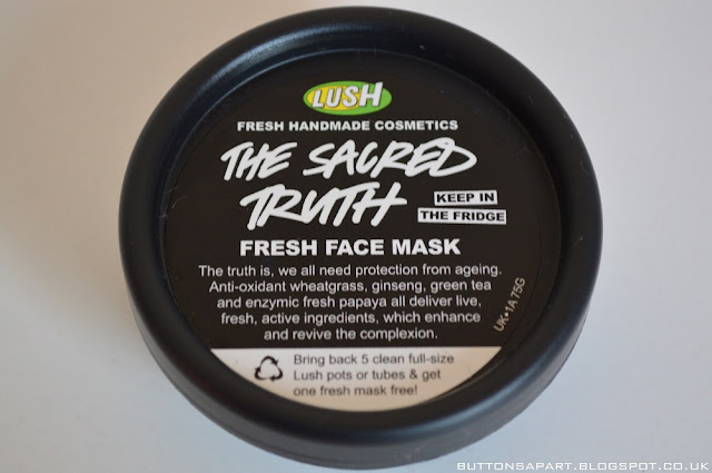 a picture of the lush the sacred truth face mask