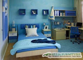 Blue ocean biru laut dekorasi kamar tidur remaja