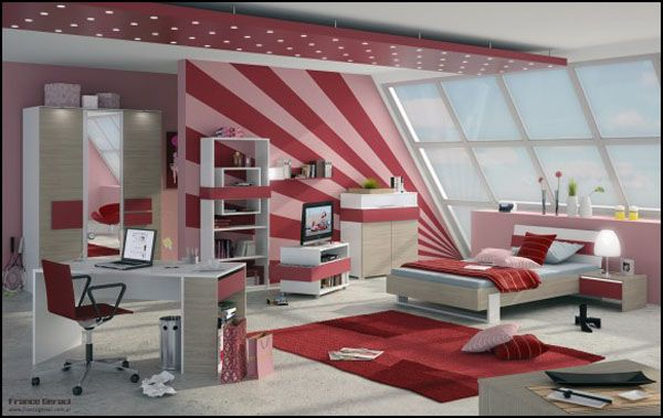 Home Interior Design Ideas For The Bedroom Of Teenage Girls ...