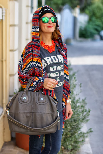 frontrowshop, bad hair day beanie, Givenchy nightingale, aztec coatigan, Fashion and Cookies, fashion blogger