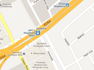 MRT Magallanes Station map