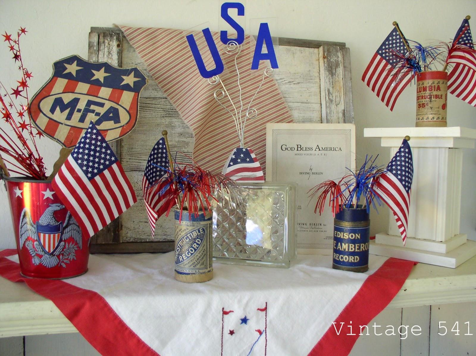Vintage patriotic decor