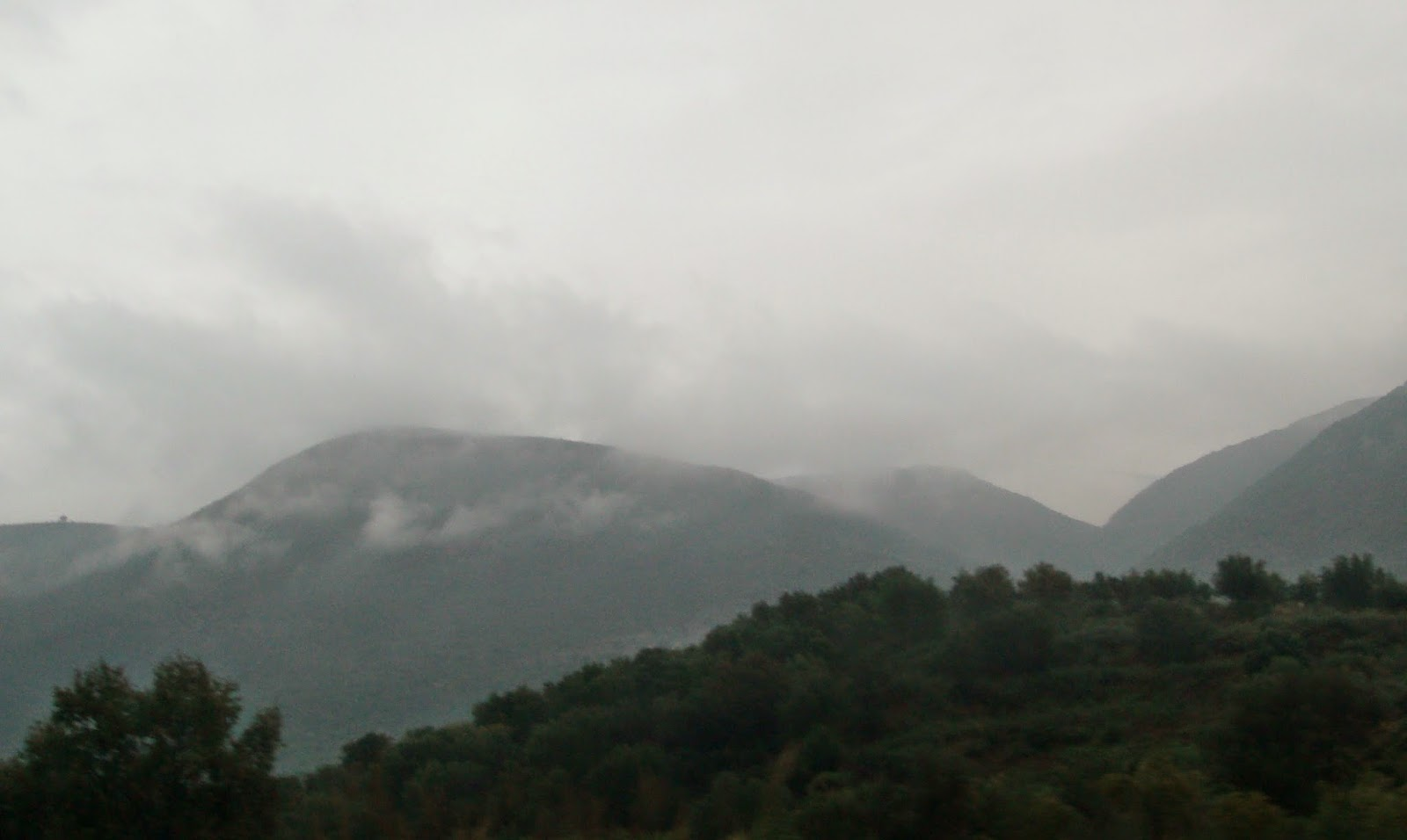 Cloudy weather in Greece