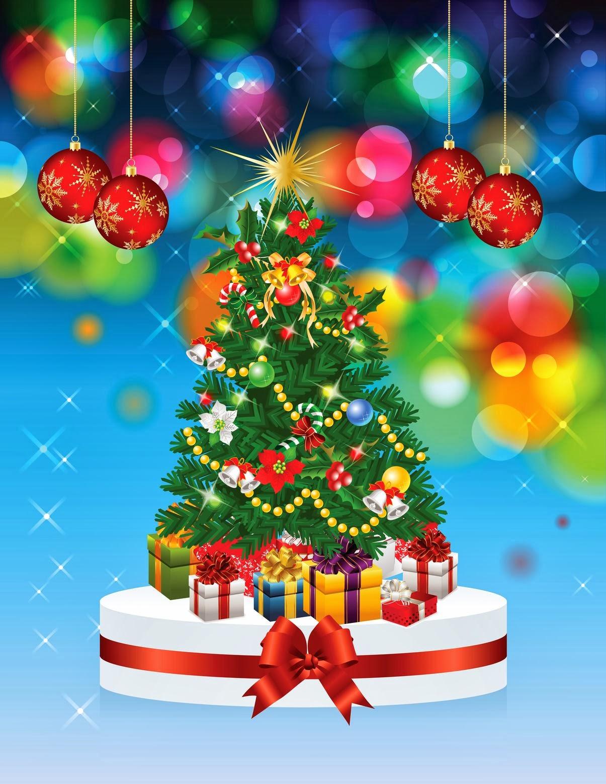 Banco de im genes 20 arbolitos de navidad con adornos - Arbolito de navidad ...