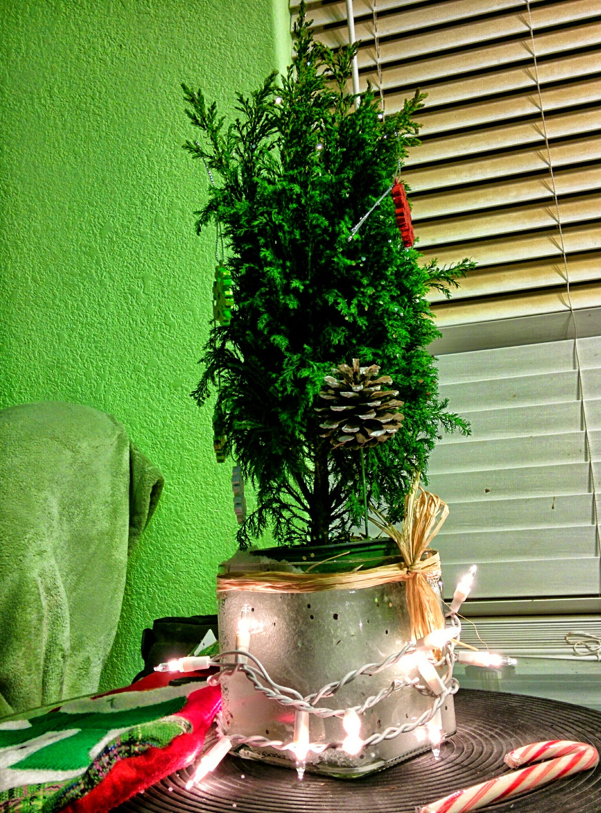 The Living Tree, miniature Christmas Tree