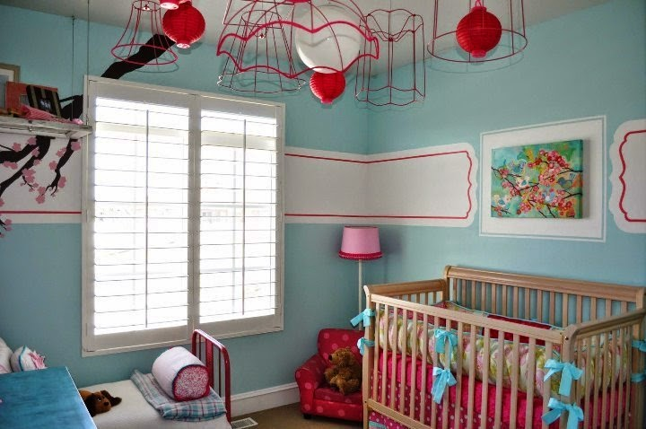 wall painting for baby girl room