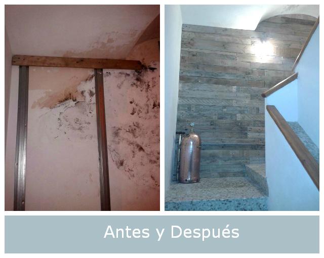 Antes y despu s la pared con humedad de jon - Para la humedad de las paredes ...