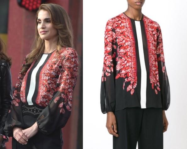 Queen Rania's Giambattista Valli Blouse