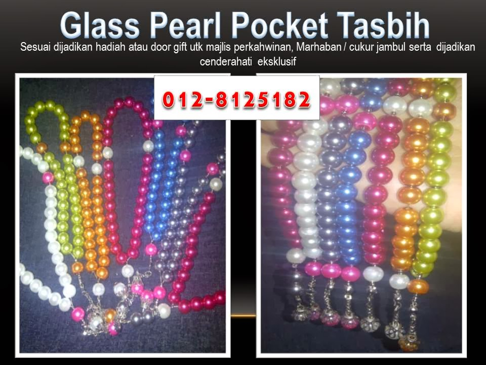 Glass Pearl Pocket Tasbih