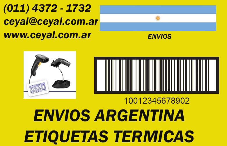 Etiquetas rollo para impresora de transferencia térmica