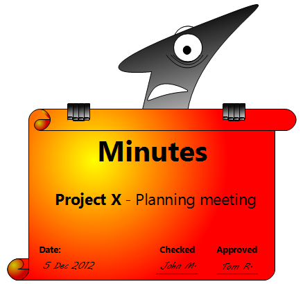 how to write minutes in a meeting
