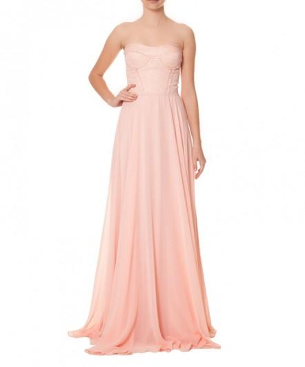 straplez elbise, pembe elbise, straplez abiye, uzun abiye, pembe abiye, abiye elbise, gece elbisesi, balo elbisesi,