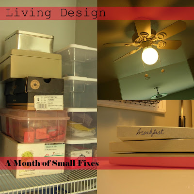 Living Design: A Month of Small Fixes
