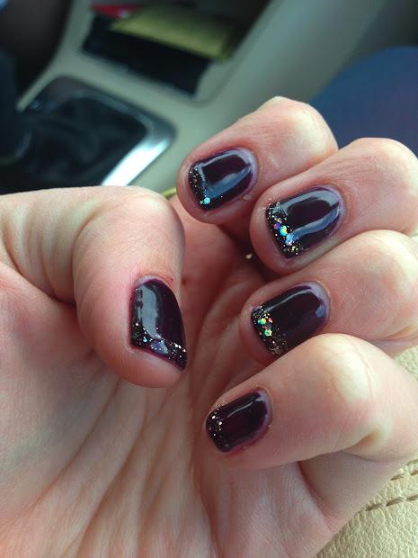 tiny gem paint nails
