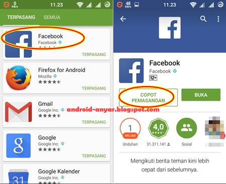 Cara Benar Menghapus (Uninstall) Aplikasi/Game Android di Play Store