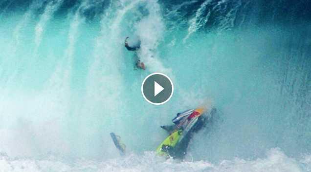 Massive Wave Jetski Wipeouts