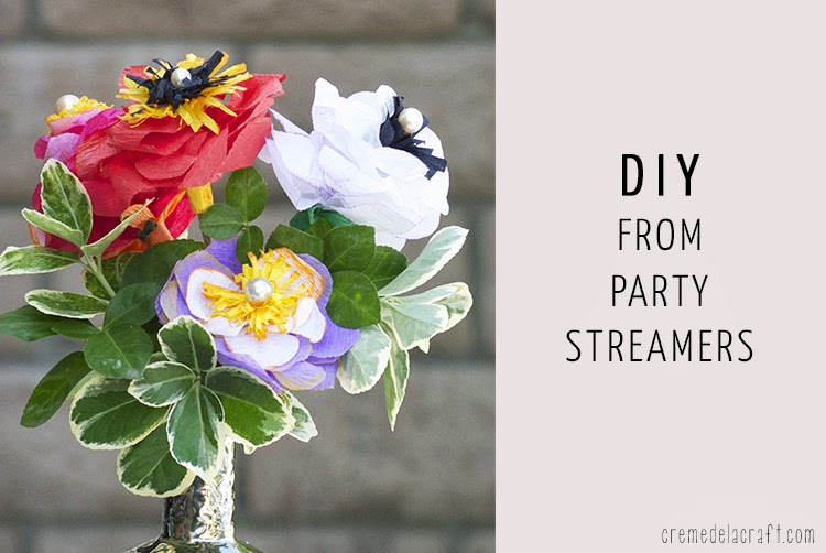 Diy crepe paper flowers from party streamers mightylinksfo