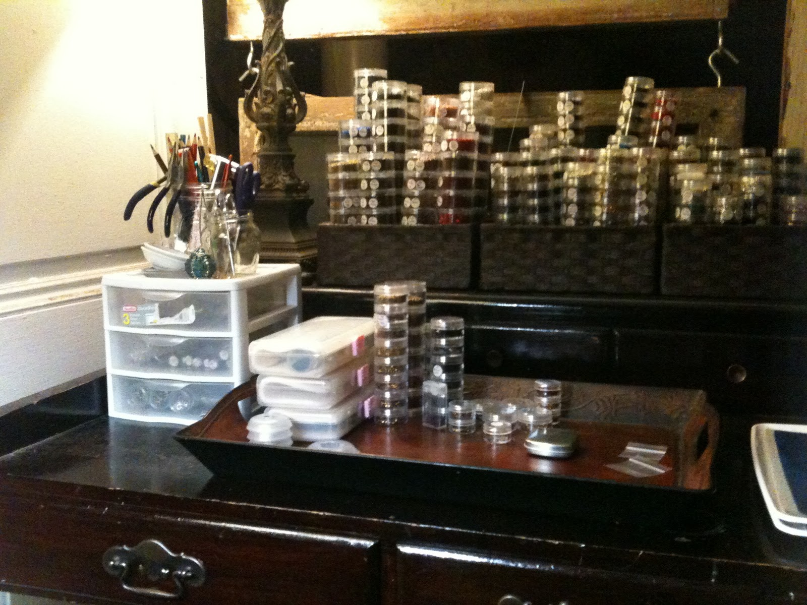 Now I need to get back to work on my Secret Santa for our Beading Daily swap! & The Bead Diaries: Storage Solutions