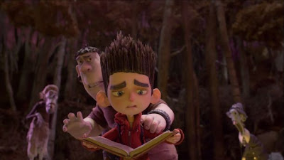 Norman in ParaNorman being surrounded by zombies.