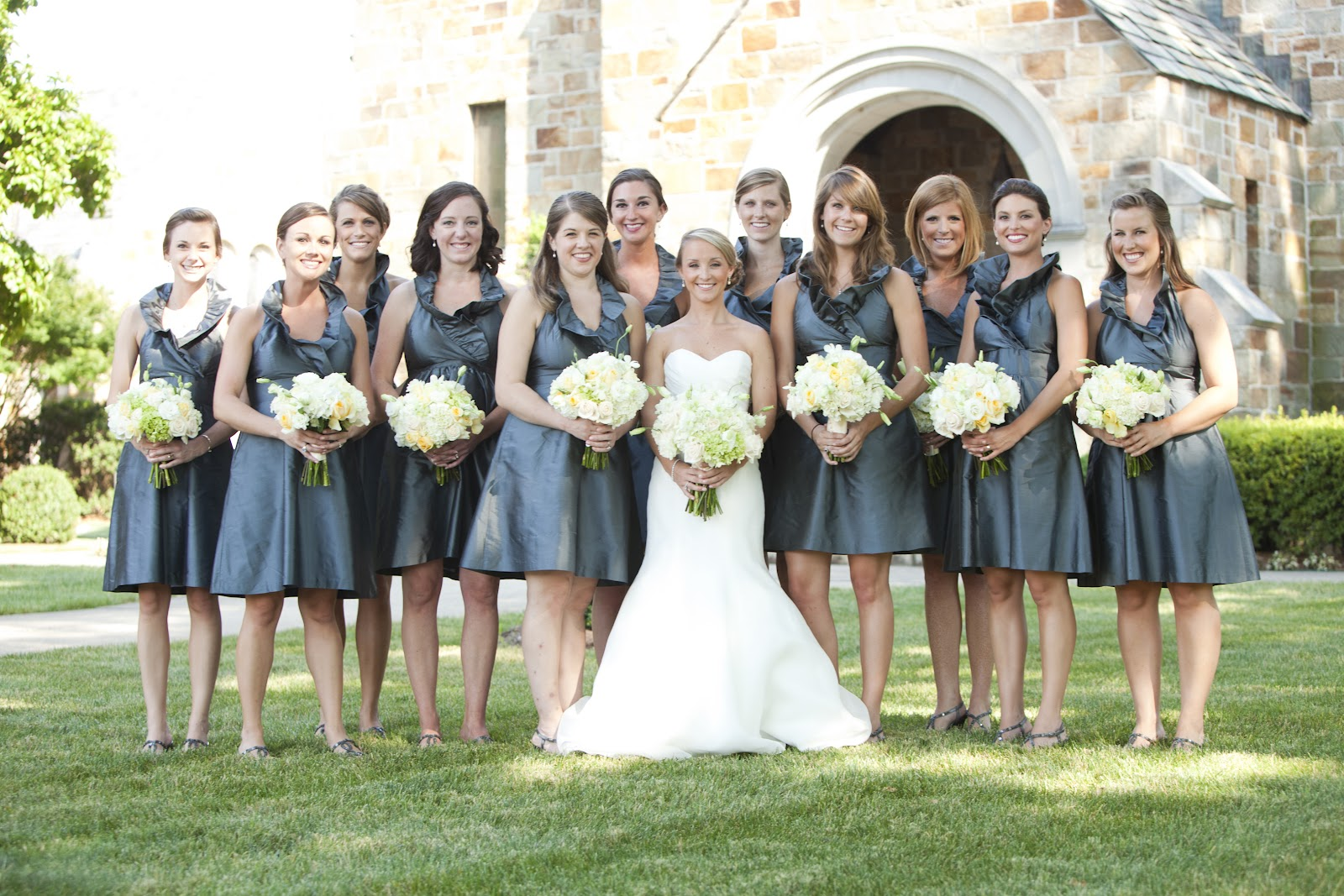 Slate Blue Bridesmaid Dress