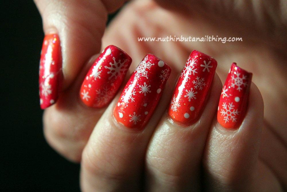 nuthin\' but a nail thing: Snowflake nail art