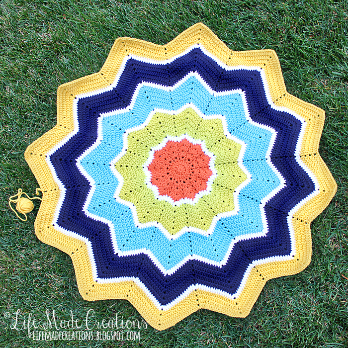 Life Made Creations Crochet Ripple Star Blanket