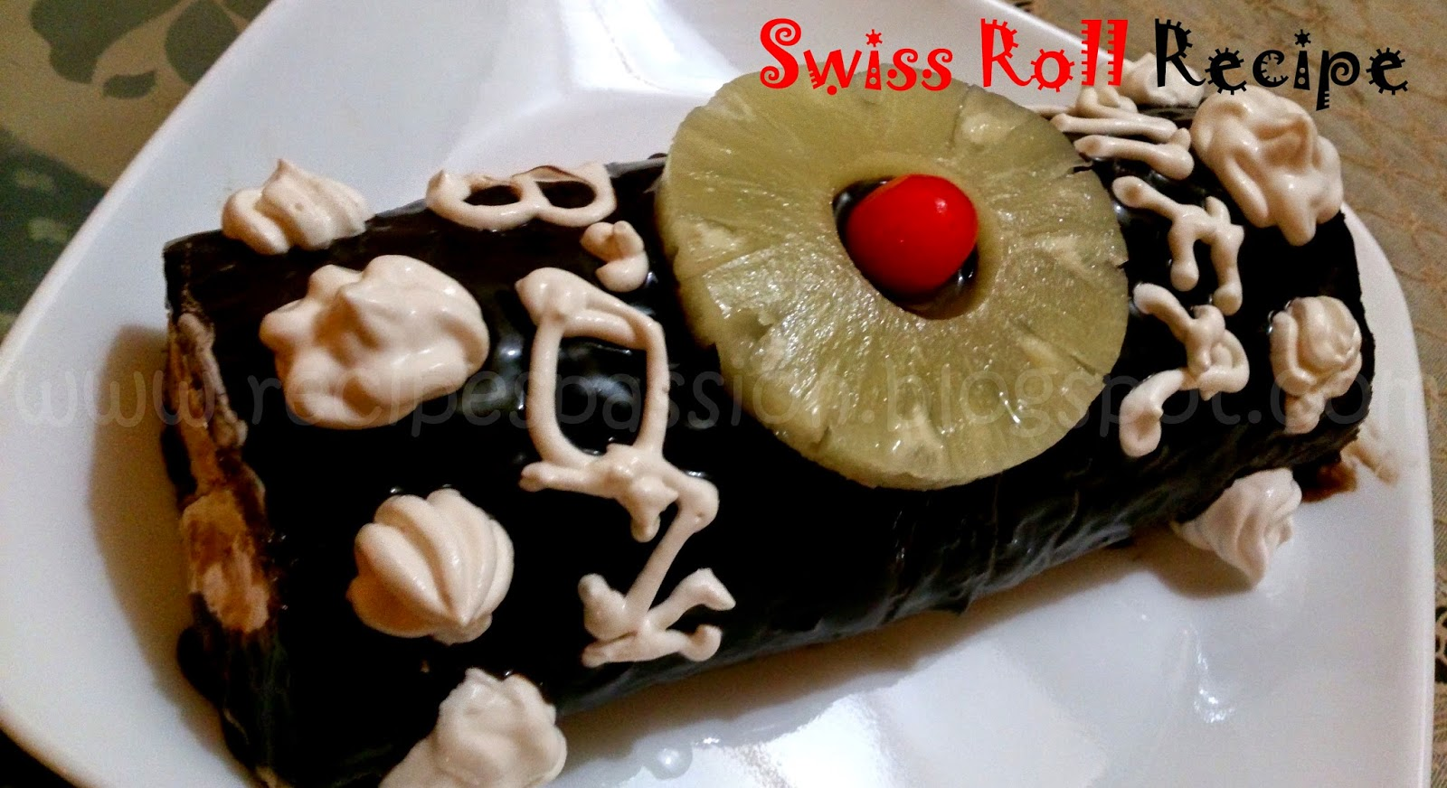 chocolate recipes, swiss roll recipe, chocolate birthday cake recipe, birthday cake recipes, cream, vanilla, simple vanilla recipe, baking