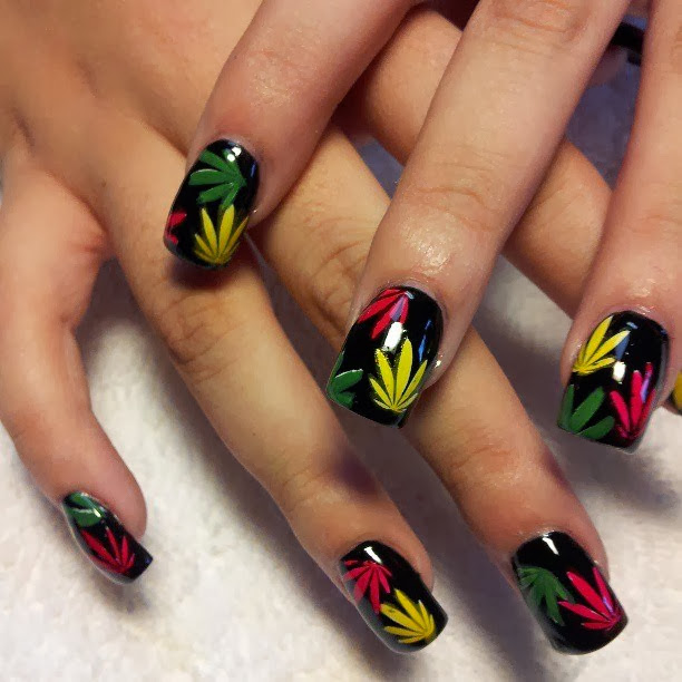 Acrylic-extensions-with-LED-polish-manicure-abyss-black-leaf-designs-made-with-LED-polish-Classic-French-white-nails-acrylic-backfill-LED-polish-Pedicure-Gel-Nails-Polish-LED-Polish-LED-Nails-Manicure-Acrylic-Nails-Nail-Art
