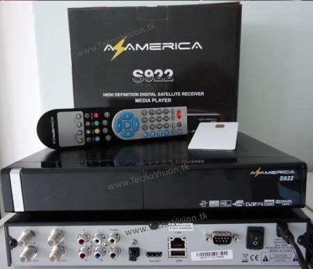 ATUALIZAÇÃO AZAMERICA SUP S922 HD v 1.09.11830 - 12-04-2014