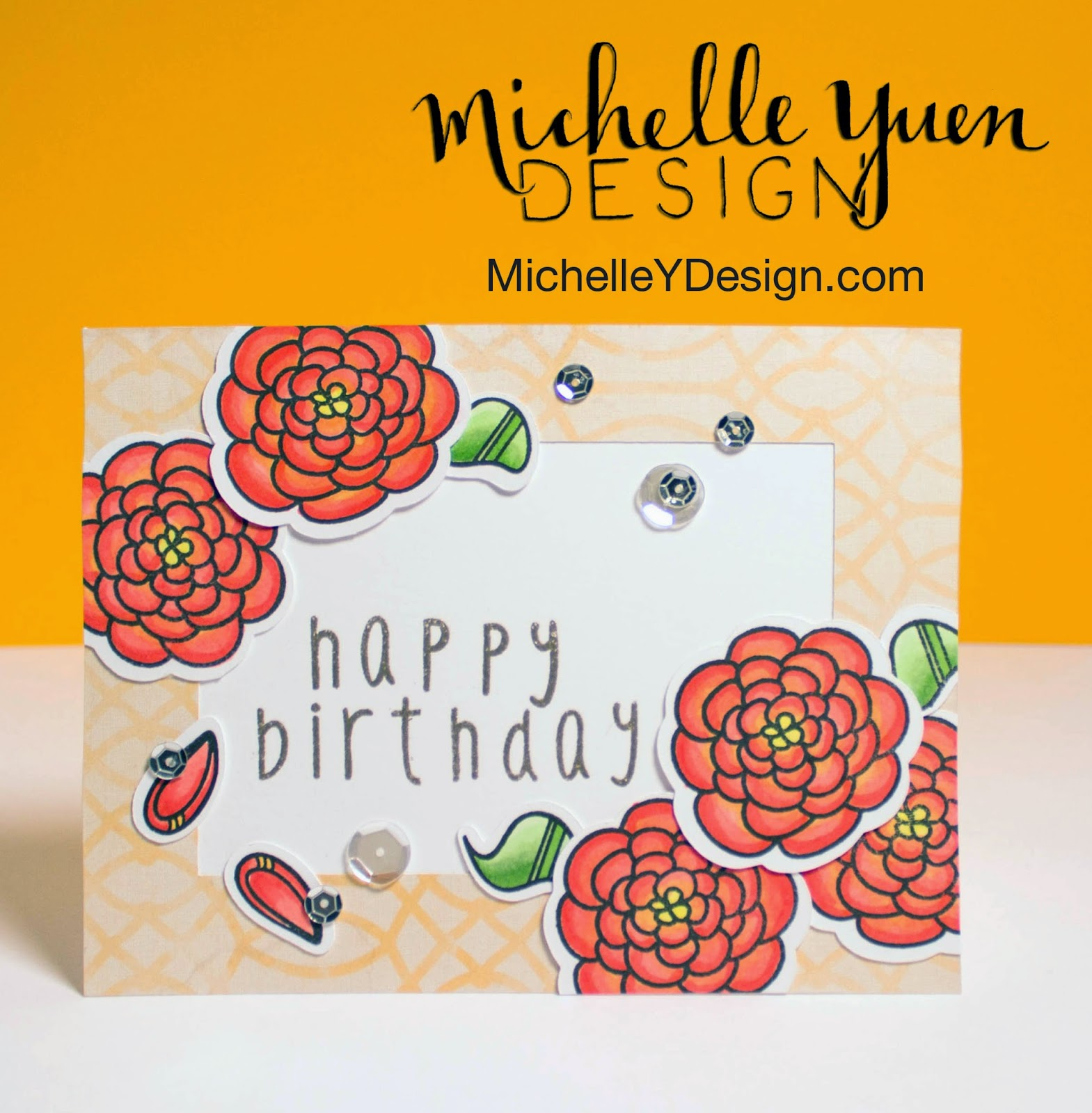 The Alley Way Stamps Video Birthday Flowers