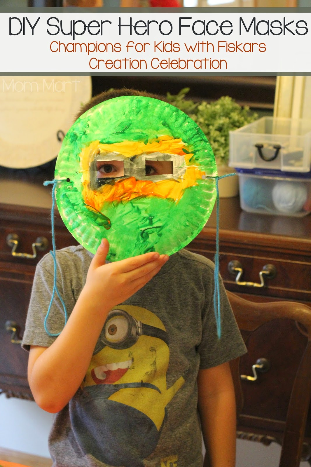 DIY Super Hero Face Masks: Champions for Kids with Fiskars