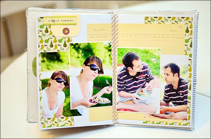 Stoff-Minialbum, Picknick