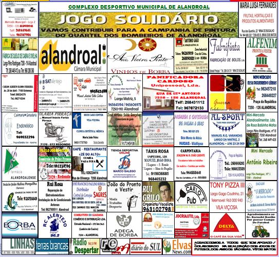 PATROCINADORES ÉPOCA DESPORTIVA 2013/ 2014 - «AMIGOS DE SÃO BRÁS DOS MATOS»